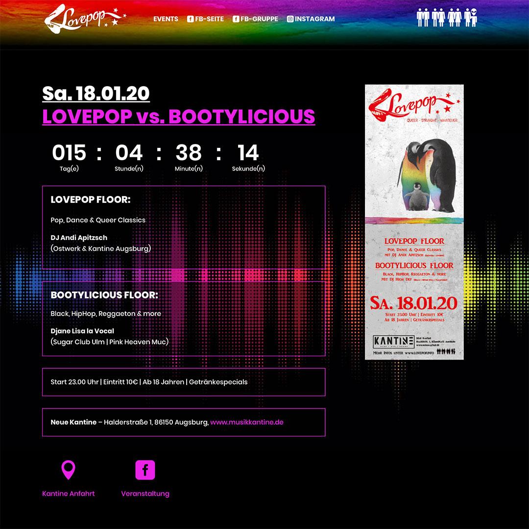 Lovepop Screen Webside relaunch